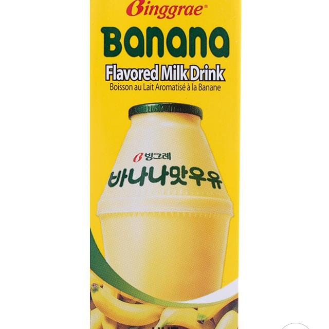 Bộ 5 hộp Sữa Hương Chuối Binggrae Hộp 200ML