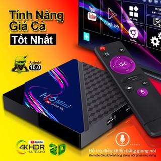Tv box Rom 8G Ram 1G tìm kiếm bằng giọng nói android tv box xem phim 4K chạy android10 bảo hành 1 năm H96miniV8 tivi box