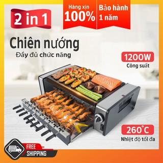 Bếp chiên nướng xoay tự động GM-H. Gọn nhẹ, dễ sử dụng, dùng nướng và chiên rán đều được. Hàng nhập khẩu SGE Thailand