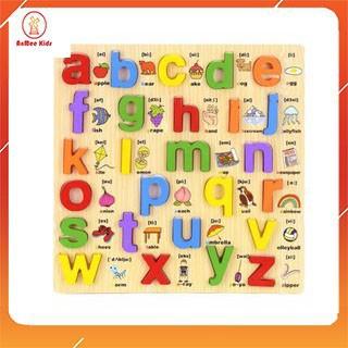 Bảng Ghép Chữ Nổi Song Ngữ Chữ Thường Giúp Bé Học Chữ Cái Và Tiếng Anh