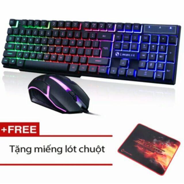 Bộ bàn phím và chuột chuyên Game Led 7 màu LIMEIDE GTX300 tặng lót