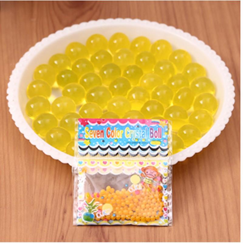 ( 13 màu tùy chọn )Hạt nở nguyên liệu làm slime - gói 1000 viên  mã MFW86