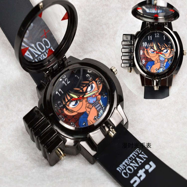 YATWIN ▲ஐSecondary pupils gift watch children table present anime peripheral detective conan laser watches