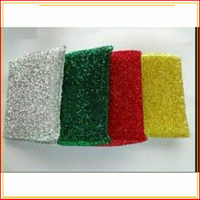 [Sale_Sock] 4 miếng rửa chén cước kim tuyến có mút cao cấp