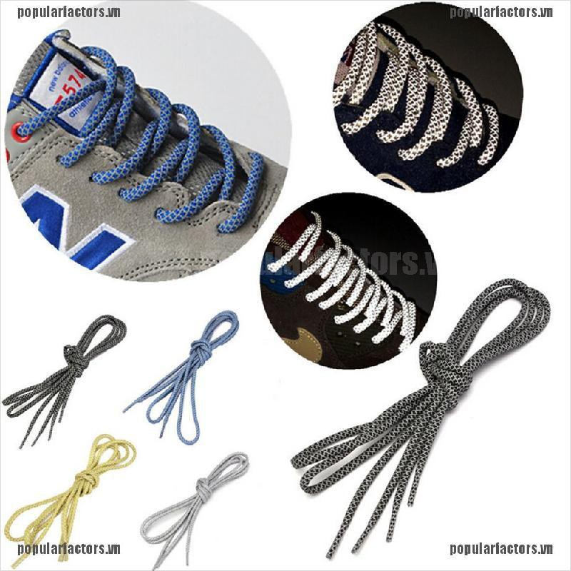 [Popular] Round Rope Reflective Runner Running Sport Shoe Laces Shoelaces Shoestrings DIY [FS]