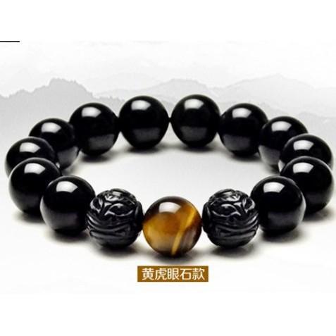 สร้อยข้อมือ obsidian ธรรมชาติ
