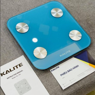 Cân điện tử thông minh Kalite KL 150, kết nối Bluetooth với điện thoại, đo các chỉ số của cơ thể