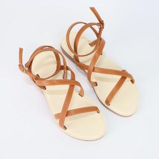 Giày sandal Cillie đế bằng phối dây 1097