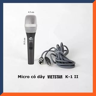 [FREESHIP ]Micro karaoke có dây Vietstar K1 II, Mic Hát nhẹ, hút mic tốt, Dây dài 5m- Chính hãng thumbnail