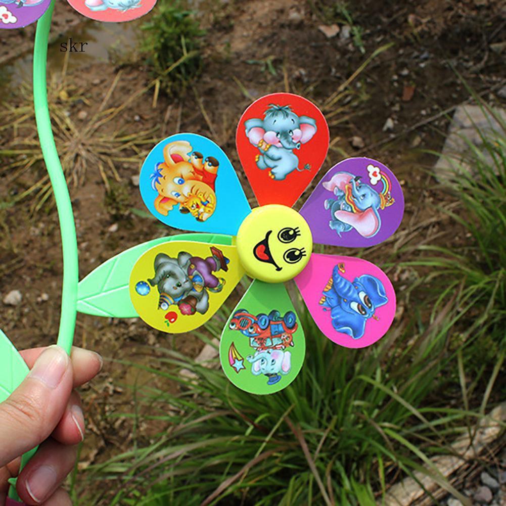 SKRCute Dumbo Emoji Multicolor 3 Pinwheels Windmill Wind Spinner DIY