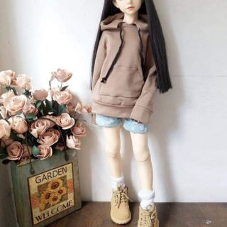 Áo hoodie kèm quần jeans cho bjd1/4