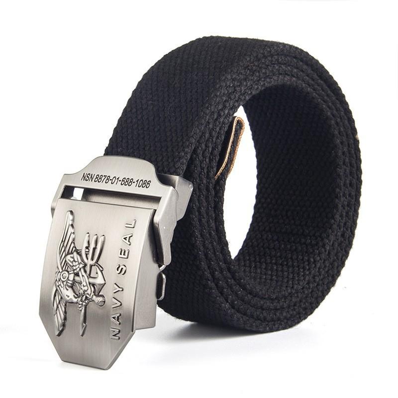 Thắt lưng vải bố khóa bằng kim loại FA2S154 (Đen)