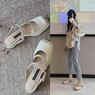 Dép bít mũi thời trang mùa hè dành cho nữ 2021