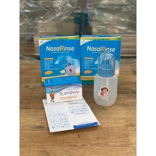 Bình rửa mũi cho bé Nasal rinse (Tặng kèm 30 gói muối rửa mũi) thumbnail