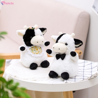 LE Cute gentleman cow lady cow doll cow plush toy cow year mascot lele