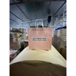 10 Túi 30x32x13cm giấy KRAFT JAPAN quai giấy xoắn cao 30cm ngang 32cm hông 13cm SET 10 CÁI