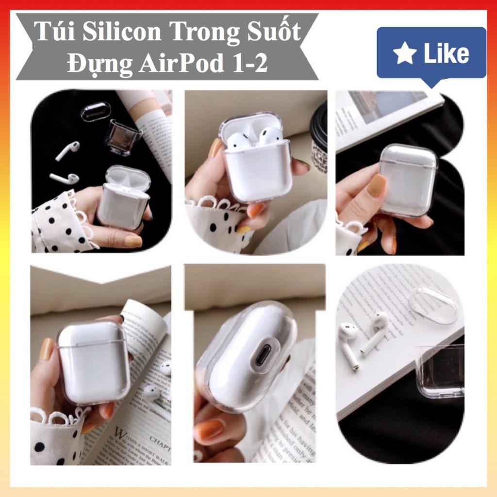 Bao silicon bảo vệ Airpods, Airpods 2, túi đựng airpod, airpod 2 Trong Suốt