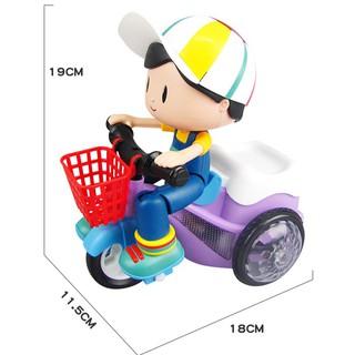 HOTSALE Đồ chơi Xe đạp xoay 360 độ có đèn nhạc phát sáng, siêu dễ thương