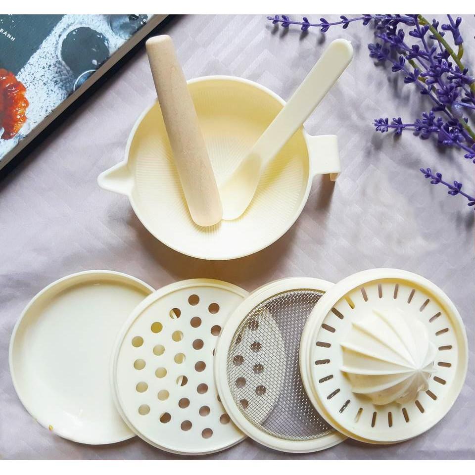 Bộ Chế Biến Ăn Dặm Kiểu Nhật 7 Món Tiện Lợi Cho Bé