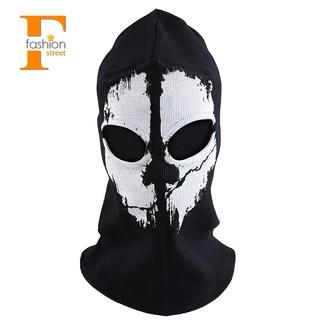 "【FS】Round neck mask Hood ""Ghost Skull"" Call Of Duty Modern Warfare"