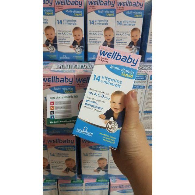 [Date 2020]- Mẫu mới nhất] Bổ sung vitamin tổng hợp cho bé Wellbaby Multi-vitamin Liquid từ 6 tháng đến 4 tuổi