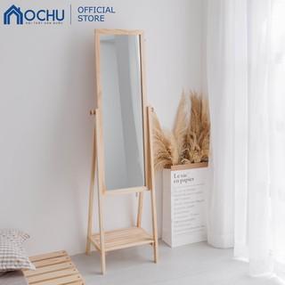 Gương Kệ Soi Toàn Thân Khung Gỗ OCHU - Mirror Shelf - Natural thumbnail