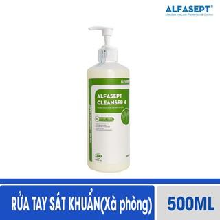 Nước rửa tay sát khuẩn Alfasept Cleanser 4 500ml (Xà phòng) - Sát khuẩn nâng cao thumbnail