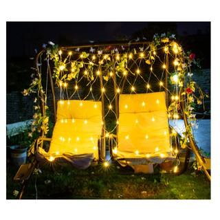 (SIZE TO) Đèn lưới chống nước đan sẵn trang trí phòng, cửa hàng, đèn treo ngoài trời, giáng sinh, tết