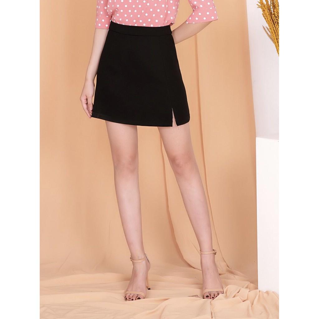 Chân váy nữ [CHÍNH HÃNG SILBER] phom ôm, cạp cao, xẻ tà trước