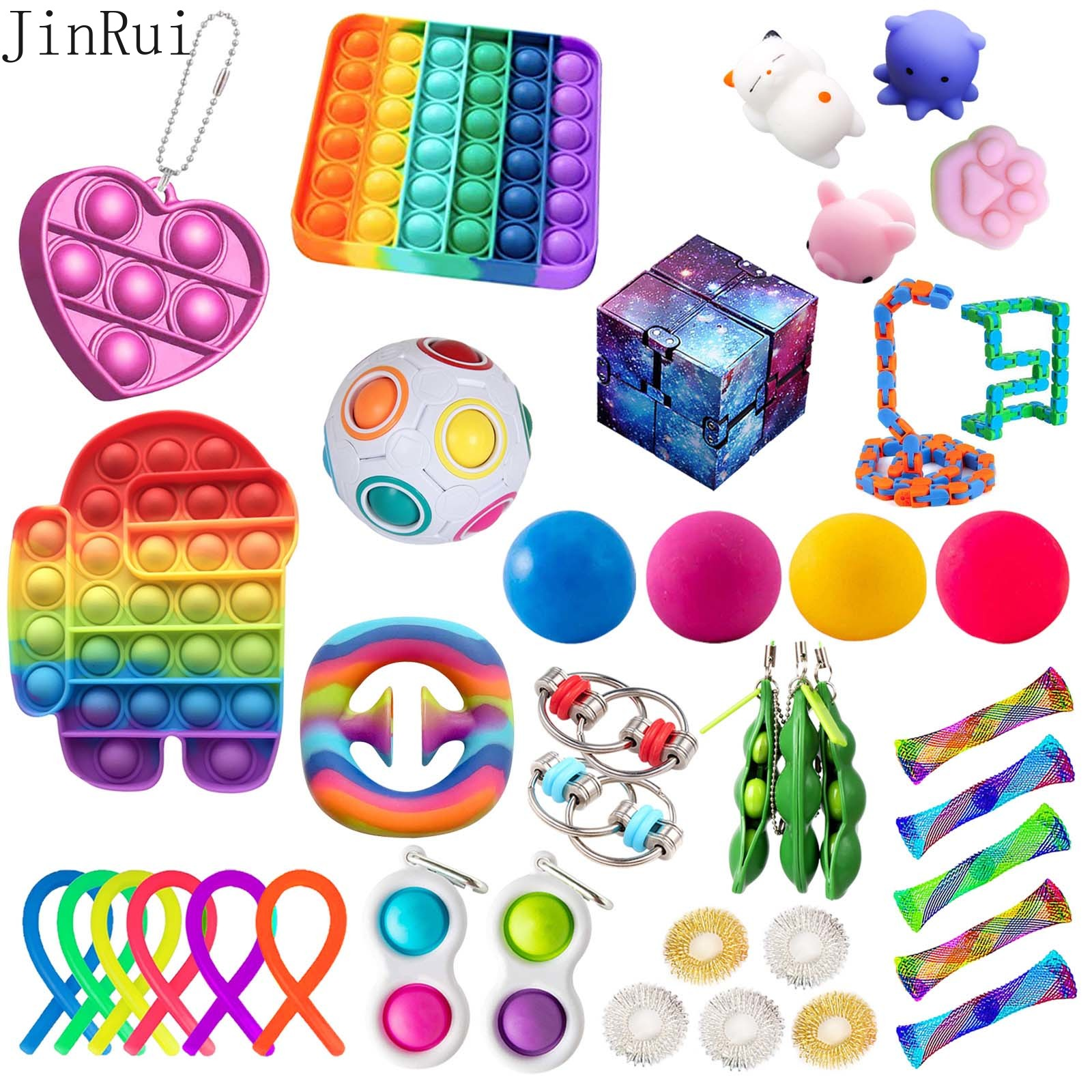 【ready stock】18-38 Pack Fidget Toys Set Sensory Tools Bundle Stress Relief Hand Kids Adults Toy