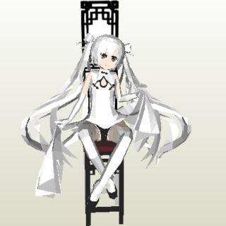 Mô hình giấy anime girl[Yosuga no Sora] Sora Kasugano ver.2