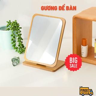 Gương Để Bàn- Gương Gỗ Để Bàn Hàn Quốc - Mila Store