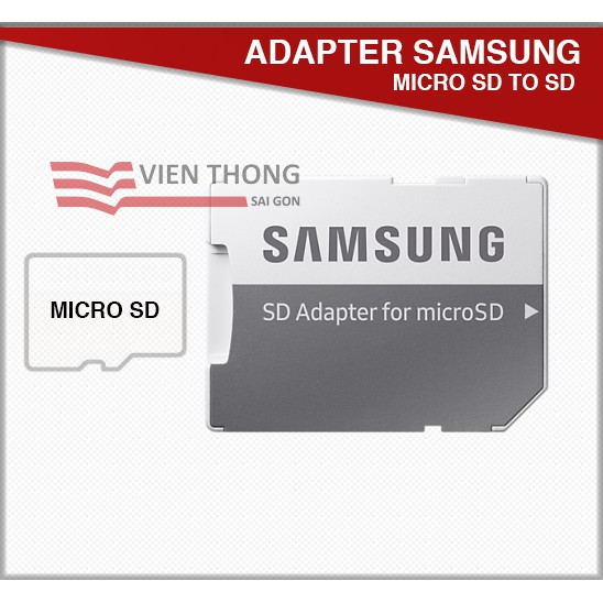 Adapter Samsung chuyển thẻ nhớ micro SD to SD