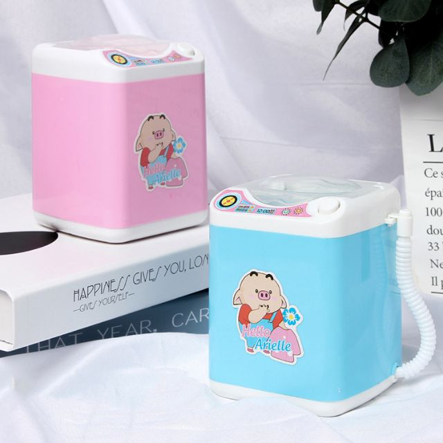 Máy giặt mini xài pin giặt quần áo cho búp bê