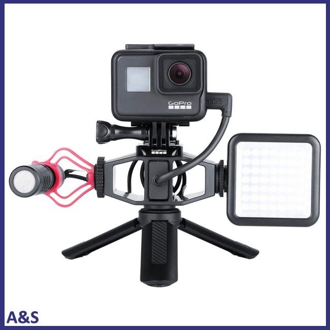 Phụ kiện để gắn đèn flash và micro dành cho máy GoPro