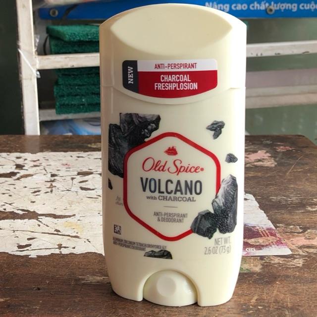 Lăn sáp Khử Mùi nam Old Spice Volcano With Charcoal 73g than hoạt tính - Mỹ (USA)