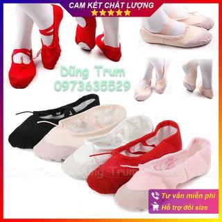 Giày múa bale bọc mũi da lộn chuẩn đẹp (Size 34 -> 44)