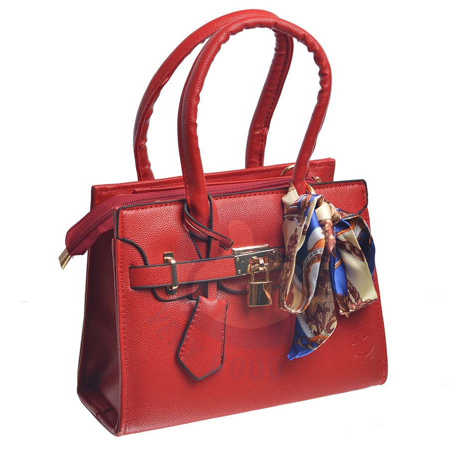 Túi thời trang nữ mẫu mới tặng kèm khăn MS15- đỏ Vrg1424