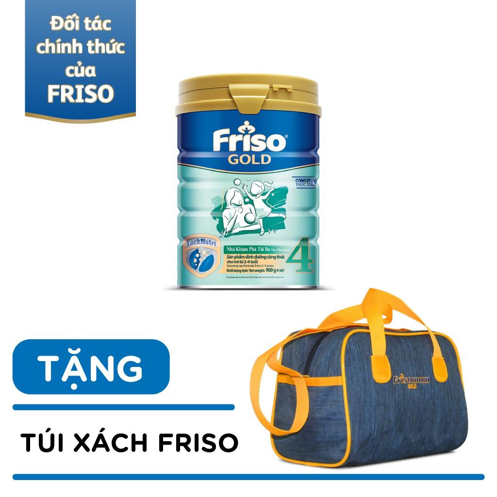 [HCM] Sữa bột Friso Gold 4 (900g) tặng túi xách