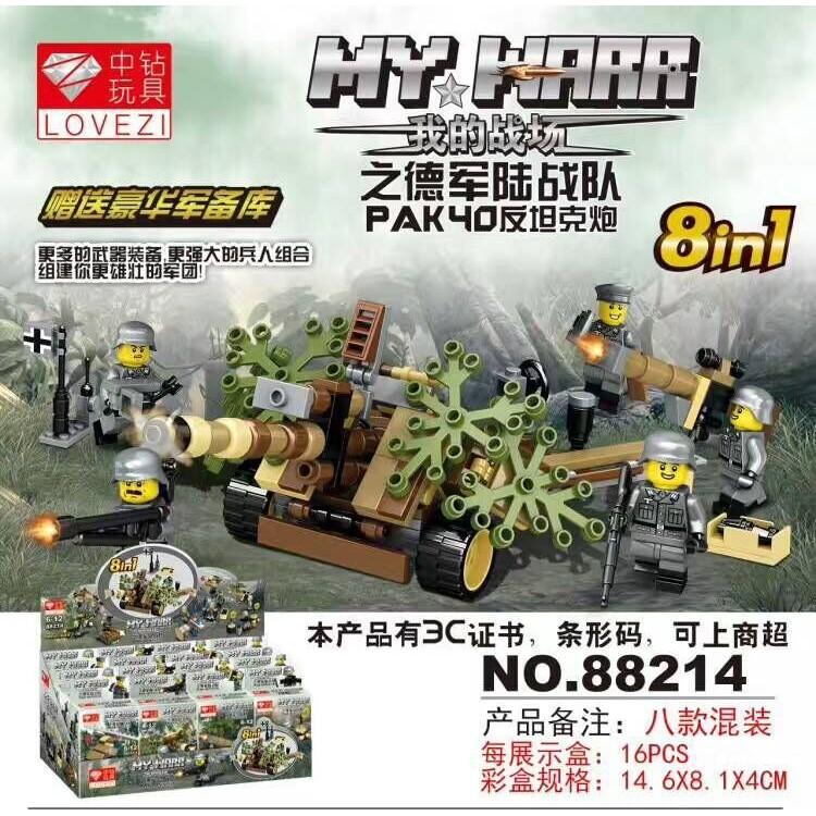 Mô hình lắp ráp Non Lego Lính Pháo Binh 88214 8box - 10041043 , 279138815 , 322_279138815 , 175000 , Mo-hinh-lap-rap-Non-Lego-Linh-Phao-Binh-88214-8box-322_279138815 , shopee.vn , Mô hình lắp ráp Non Lego Lính Pháo Binh 88214 8box