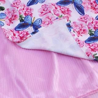 Bộ áo dài bướm hồng hạnh phúc