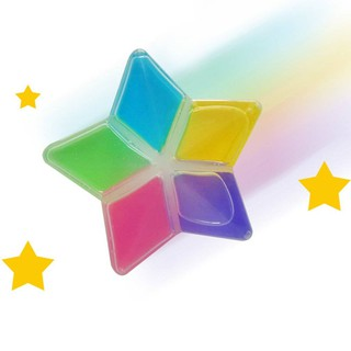 Colorful Non-Toxic Five Pointed Star Shape Crystal Mud DIY Crystal Mud Clay