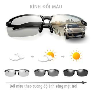 Kính đổi màu gọng kim loại, mắt kính polarized phân cực, chống tia UV 400 - MK1911