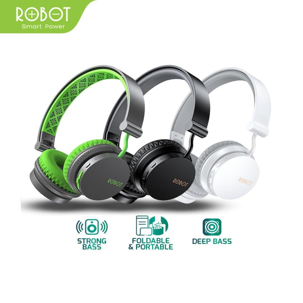 Tai Nghe Chụp Tai Bluetooth ROBOT Spirit H10 Chất Âm DSP Hỗ Trợ Kết Nối Cổng AUX - BẢO HÀNH 12 THÁNG 1 ĐỔI 1