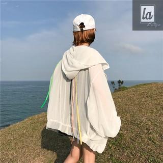 (HÀNG TRẢ kHÁCH) Combo 2 áo khoác chống nắng form rộng phối dây
