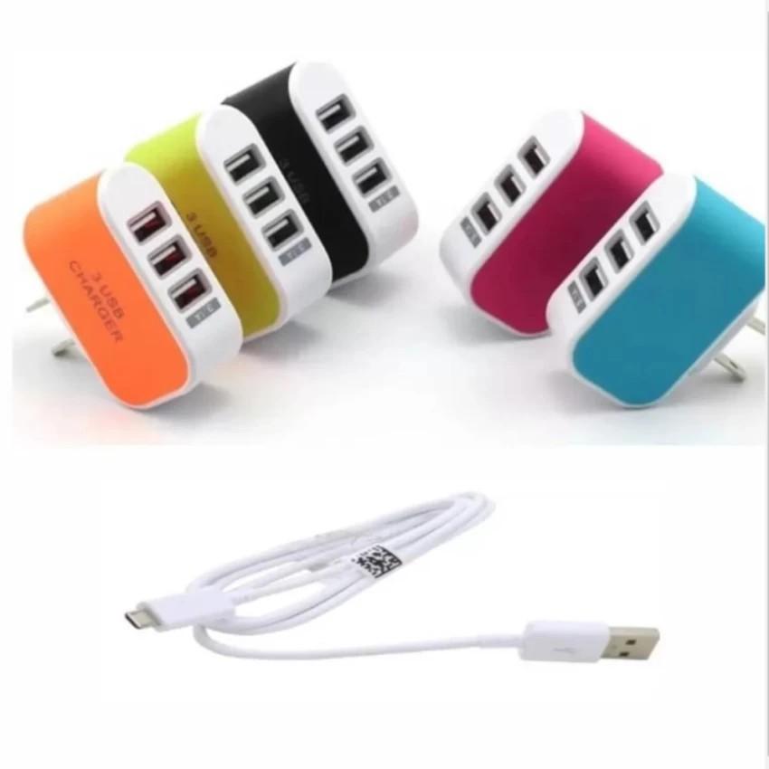 Bộ Cốc sạc điện thoại đa năng 3 cổng USB + Cáp sạc tiện ích - 2845751 , 811179962 , 322_811179962 , 59000 , Bo-Coc-sac-dien-thoai-da-nang-3-cong-USB-Cap-sac-tien-ich-322_811179962 , shopee.vn , Bộ Cốc sạc điện thoại đa năng 3 cổng USB + Cáp sạc tiện ích