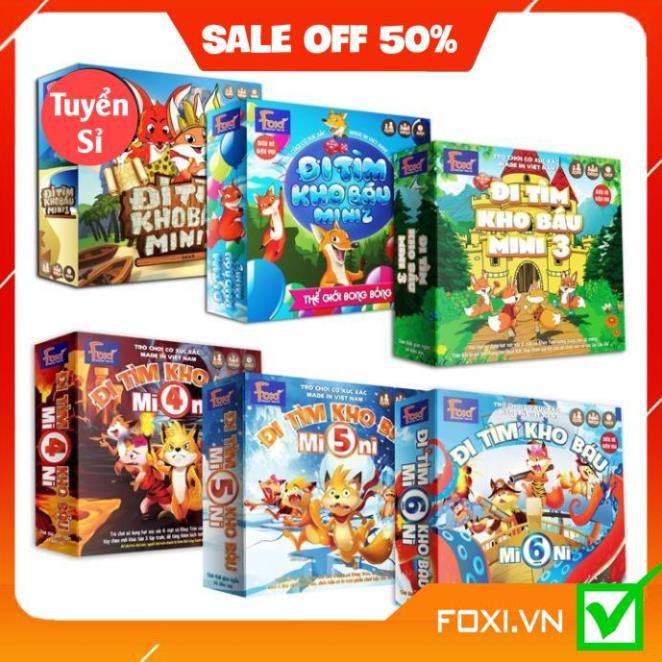 Boardgame-Đi tìm kho báu mini Foxi-Đồ chơi trẻ em thông minh sáng tạo-phát triển IQ cao