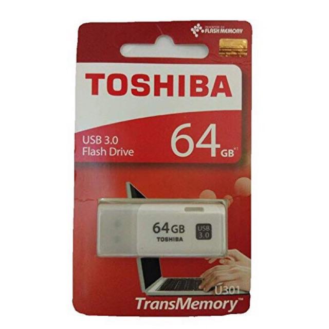 Usb 3.0 Toshiba U301 64Gb chính hãng BH 2 năm Giá chỉ 295.000₫