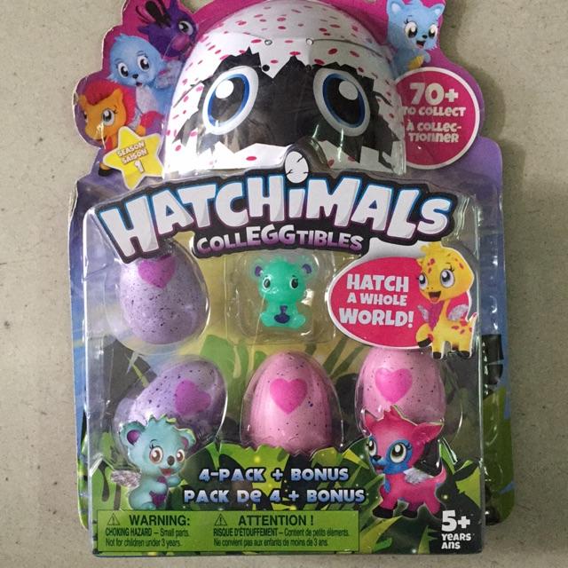 Vỉ 4 trứng HATCHIMALS