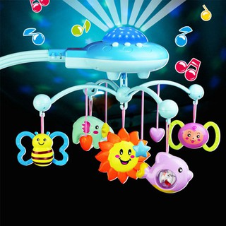 Newborn Infant Toddler Baby Toys Boys Girls Bed Bell Musical Rotating Bells with